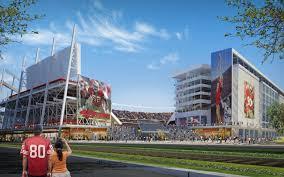 Rendering of the new 49s stadium